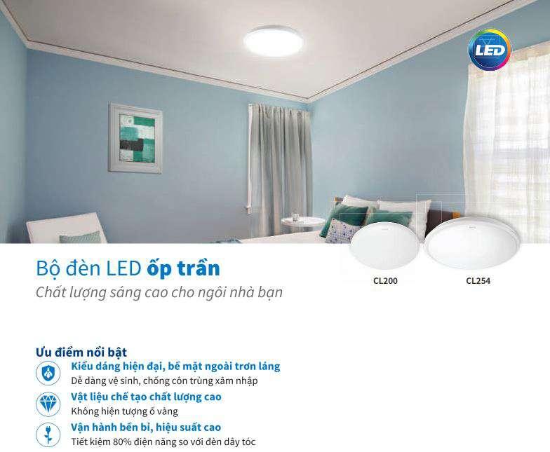Đèn ốp nổi CL200VAF CL254 Philips